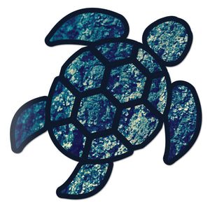 Red Hound Auto Sea Turtle Ocean Floor Blue Sticker Decal Wall Tumbler Cup Window Car Truck Laptop 4 Inches