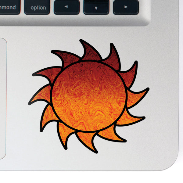 Sun Decal German Haze Print Sticker Vinyl Rear Window Car Truck Sun Solar Travel Mug Water and Fade Resistant 2.5 Inches
