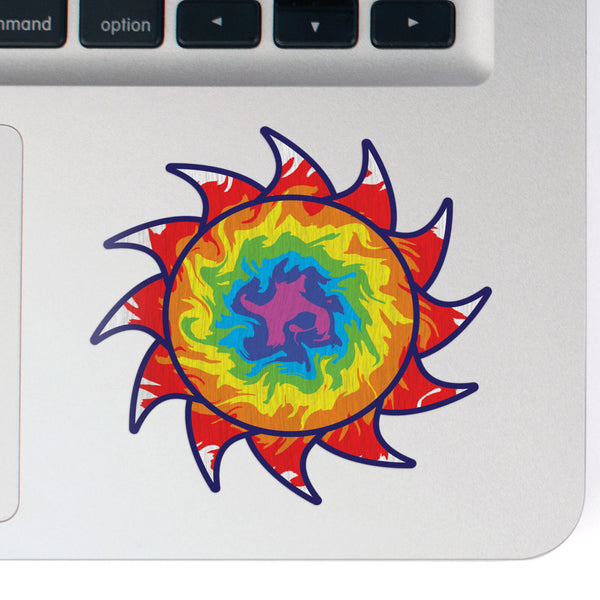 Sun Decal Dragon Tie Dye Sticker Vinyl Rear Window Car Truck Laptop Sun Solar Travel Mug Water and Fade Resistant 2.5 Inches