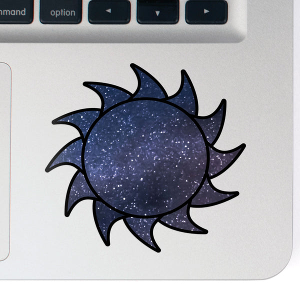 Sun Decal Space Sticker Vinyl Rear Window Car Truck Laptop Sun Solar Travel Mug Water and Fade Resistant 2.5 Inches