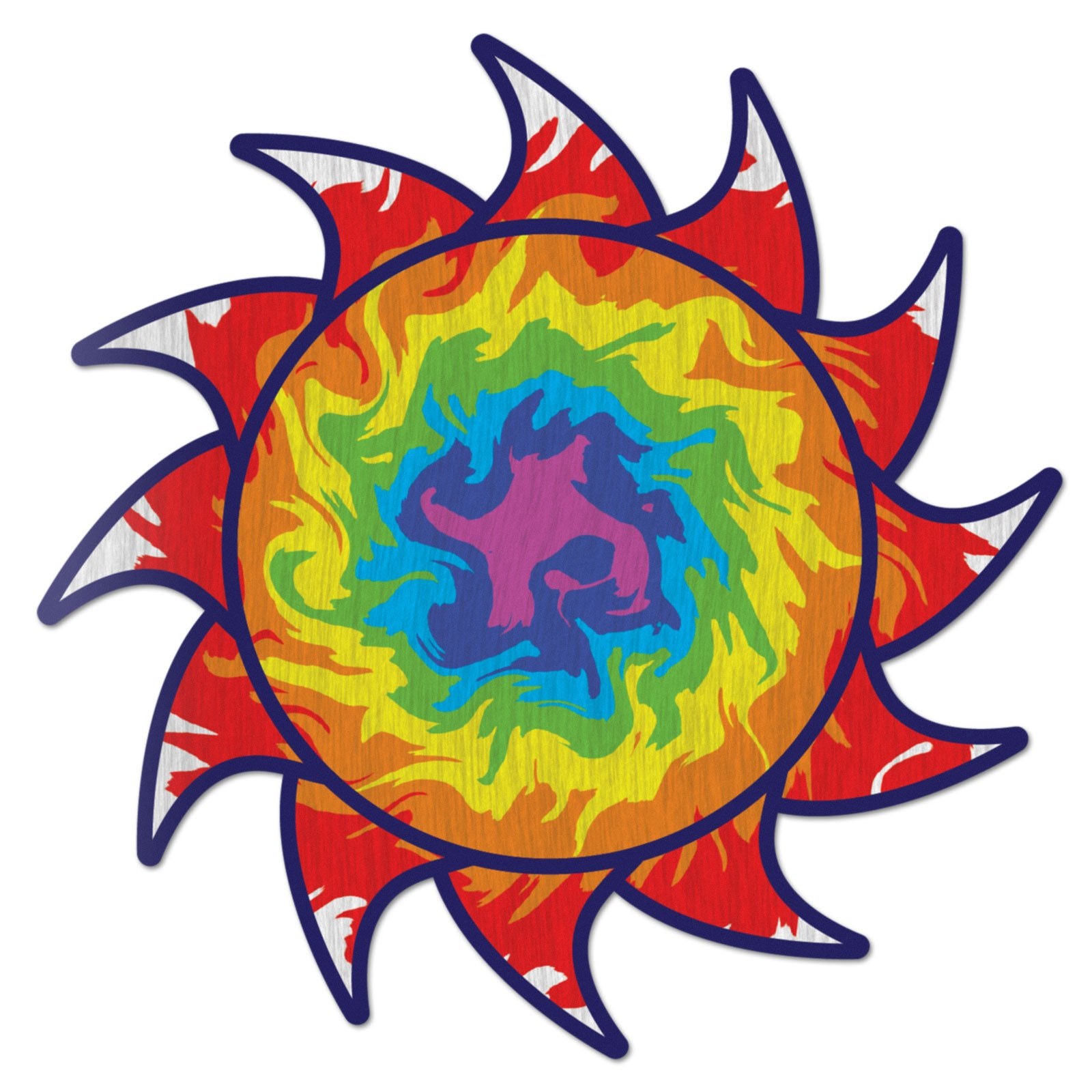 Sun Decal Dragon Tie Dye Sticker Vinyl Rear Window Car Truck Laptop Sun Solar Wall Water and Fade Resistant 4 Inches