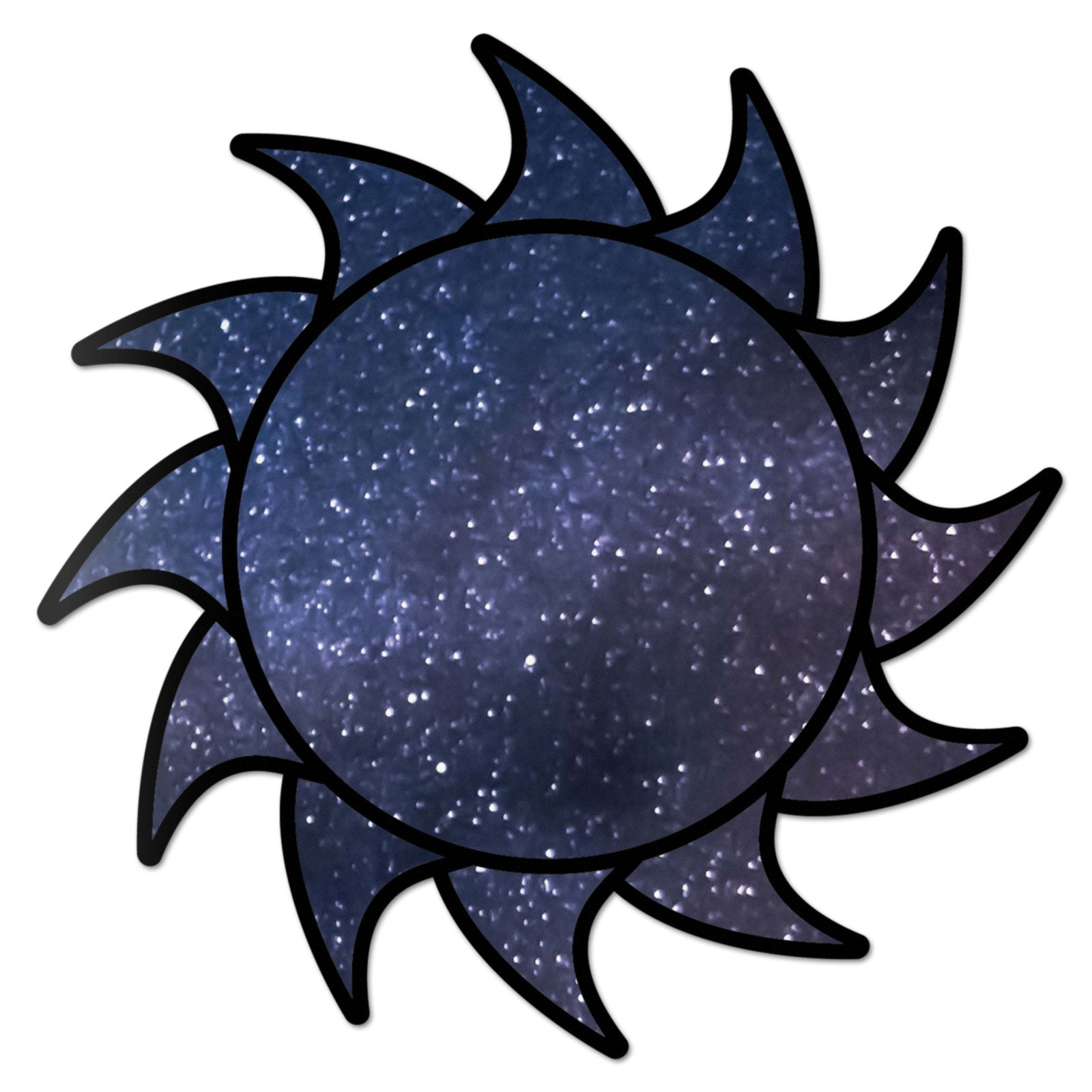 Sun Decal Space Sticker Vinyl Rear Window Car Truck Laptop Sun Solar Wall Water and Fade Resistant 4 Inches