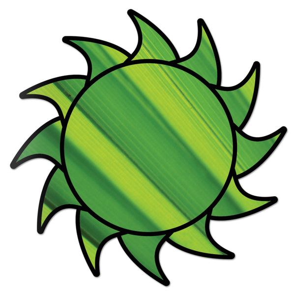 Sun Decal Green Burst Sticker Vinyl Rear Window Car Truck Laptop Sun Solar Wall Water and Fade Resistant 4 Inches