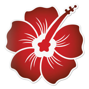 Hibiscus Decal Midnight Red Sticker Vinyl Rear Window Car Truck Large Wall Water and Fade Resistant 6 Inches