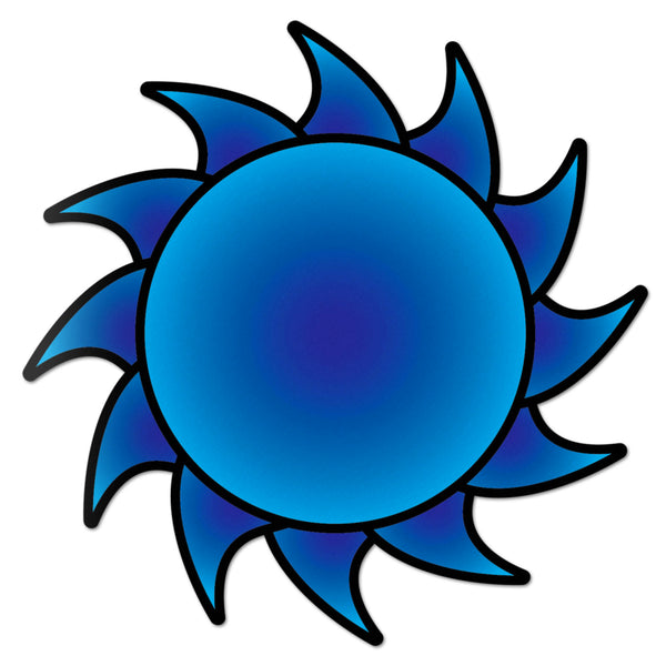 Sun Decal Blue Sticker Vinyl Rear Window Car Truck Large Sun Solar Wall Water and Fade Resistant 6 Inches