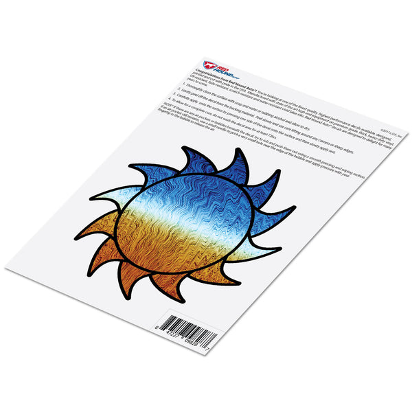 Sun Decal Dark Horizon Sticker Vinyl Rear Window Car Truck Large Sun Solar Wall Water and Fade Resistant 6 Inches