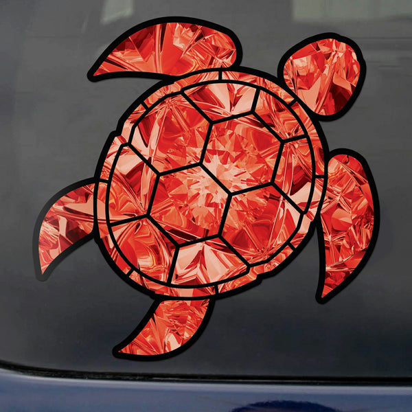 Garnet Sea Turtle Birthstone Decal January Print Sticker Vinyl Rear Window Car Truck Laptop Gem Travel Mug Water and Fade Resistant 2.5 Inches