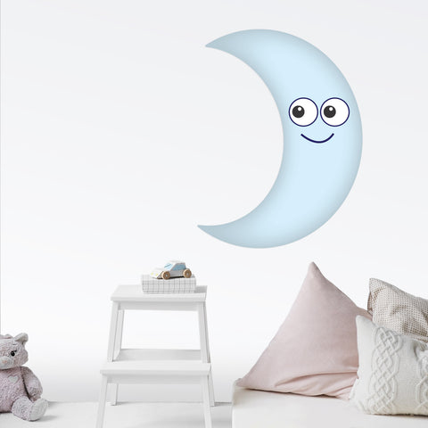 Moon Smiling Wall Decal Graphic Peel and Stick Removable 2 Feet Tall 24 Inch  Baby Nursery Sticker