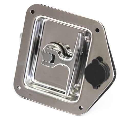 Red Hound Auto Stainless Door Lock Trailer Toolbox RV T Tee Handle Latch 4-3/4 Inches x 4-7/8 Inches w Key