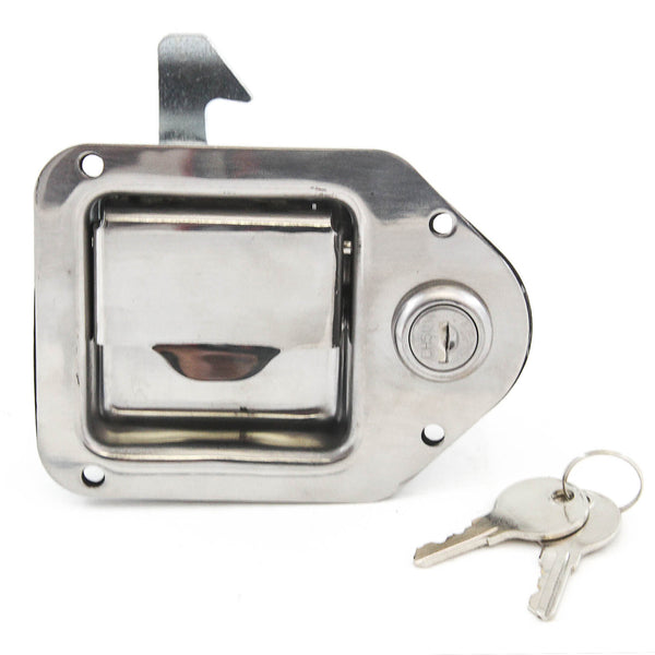 Red Hound Auto Stainless Door Lock Trailer Toolbox RV Handle Latch 4-3/8 Inches x 3-1/4 Inches Paddle Key