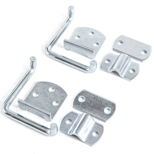 Red Hound Auto Qty 2 Stake Body Rack Straight Mount Bent Bracket Gate Corner Latch Set Security Set Utility Trailer Wood