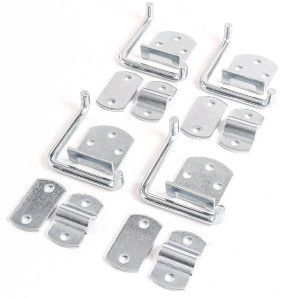 Red Hound Auto Qty 4 Stake Body Rack Straight Mount Bent Bracket Gate Corner Latch Set Security Set Utility Trailer Wood