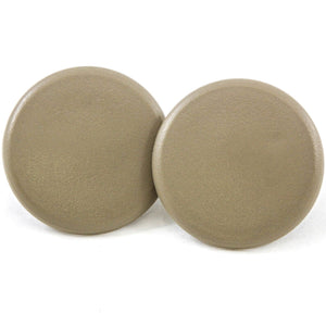 2 Rear Armrest Cover Caps Cashmere Tan 2007-2014 Compatible with GM Trucks & SUVs Arm Rest Snap