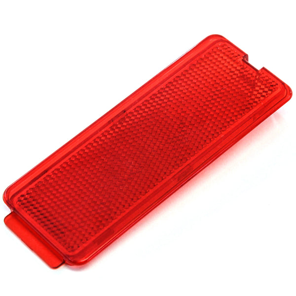 Premium Door Reflector Interior Red Compatible with Ford (1999-2007 SuperDuty F250 F350 F450 F550 Super Duty & 2000-2005 Excursion)