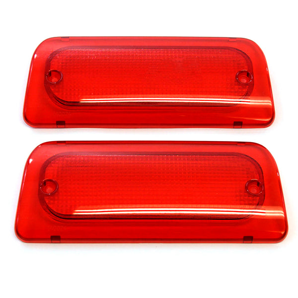 Qty 2-3rd Brake Light Lens Extended Cab 1994-2004 Compatible with Chevy S-10 & GMC Sonoma Genuine RHA High Red Third Brake