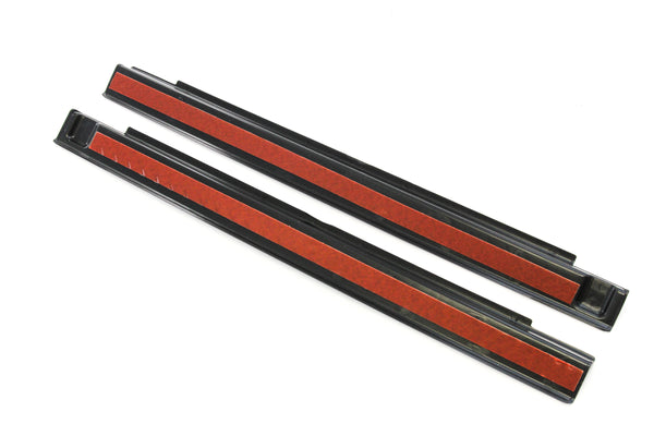 Red Hound Auto 2007-2018 Compatible with Jeep Wrangler 2 Door JK Black Door Sill Guards Scratch Threshold Sill Protectors