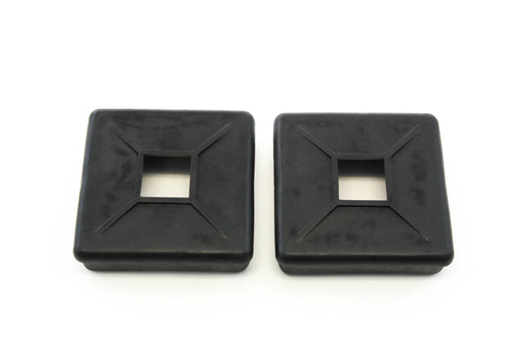 Red Hound Auto 2 Bumper Plug End Caps Square 4 Inches Vented Cover RV Camper Trailer Pair Set