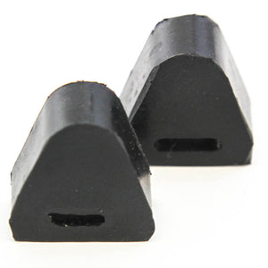 Red Hound Auto 2 Rubber Tailgate Bumpers Compatible with Silverado Sierra Right or Left Side Latch Cushion Stop