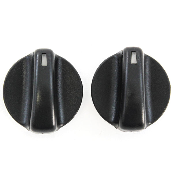 2 Control Knobs Heater AC 1993-1997 Compatible with Chevrolet Chevy GEO Prizm Temperature Switch Black