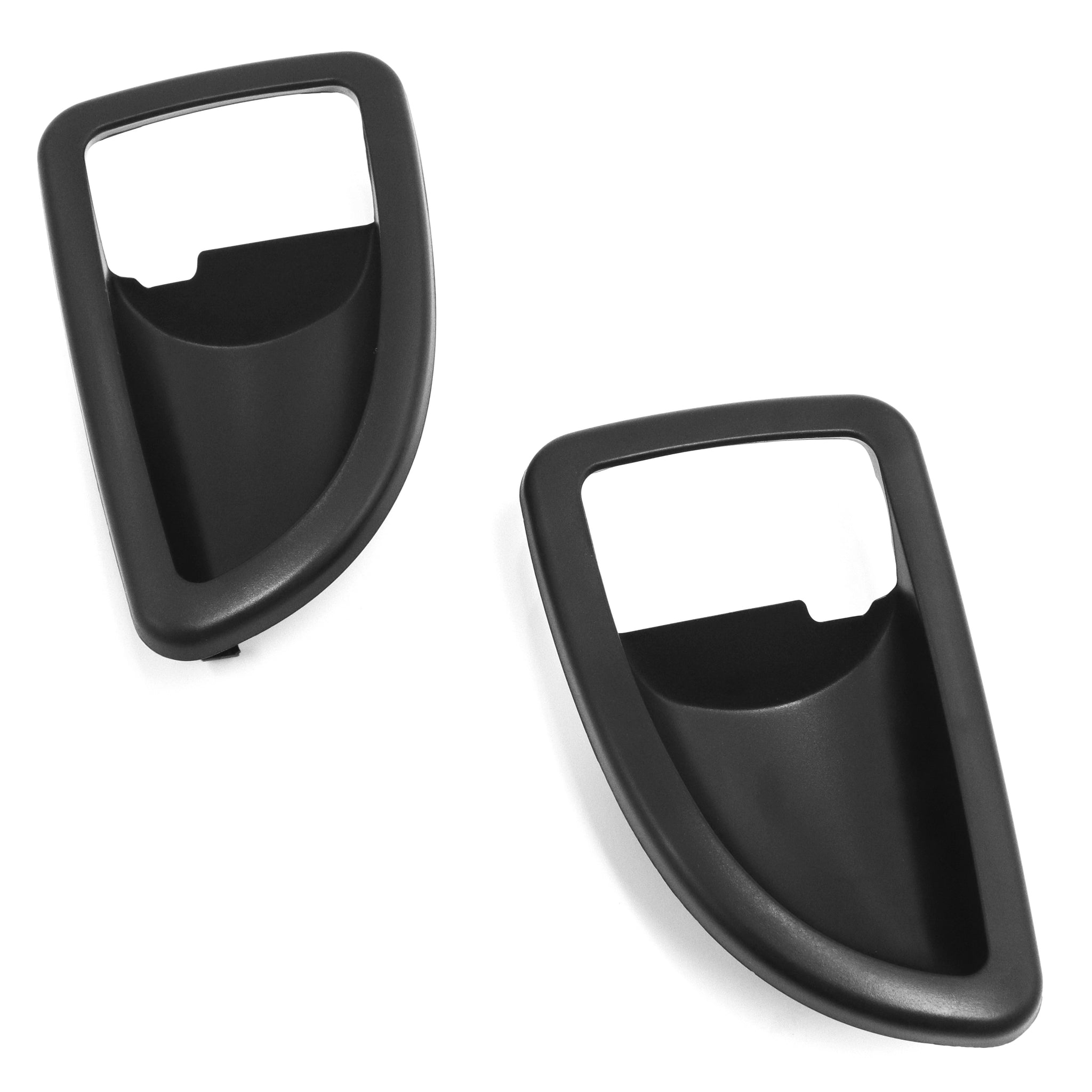 Red Hound Auto 2 Front Driver and Passenger Side Inside Black Door Handle Trim Compatible with Chevrolet Buick Pontiac 2005-2009 Uplander, Montana SV6 and 2005-2007 Terraza
