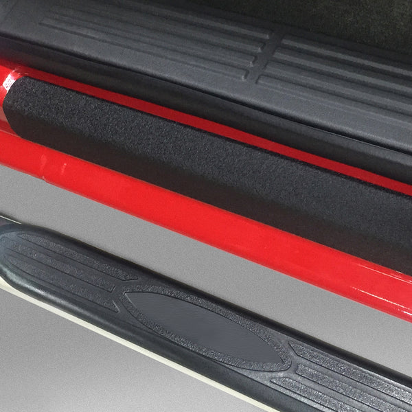 Red Hound Auto Custom Fit 1999-2006 Compatible with Chevy GMC Silverado Sierra Regular Cab 2pc Kit Door Entry Guards Scratch Protection Protector Paint Protection Sill Scuff Threshold Shield