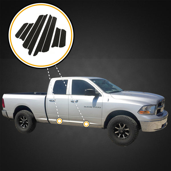 Red Hound Auto Custom Fit 2009-2018 Compatible with Dodge Ram 1500 Quad Cab 8pc Door Entry Guards Sill Scratch Shield Protector Threshold Paint Protection