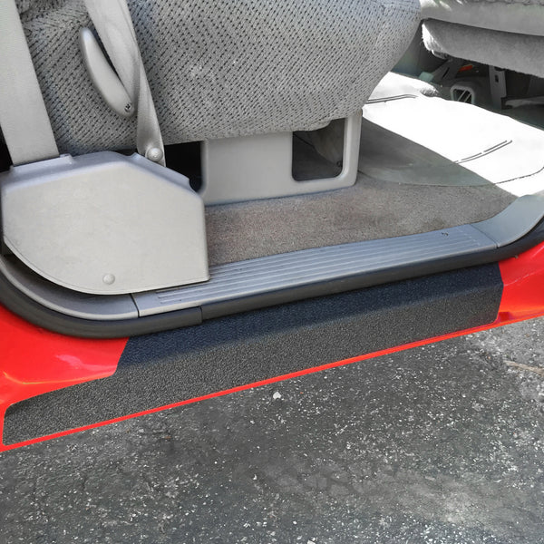 Red Hound Auto Custom Fit 1992-1998 Compatible with Chevy GMC C/K Crew Cab 4pc Kit Door Entry Guards Scratch Protection Paint Protector Sill Scuff Threshold Shield