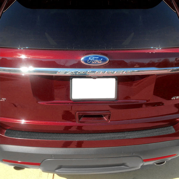Custom Fit 2011-2015 Compatible with Ford Explorer 1pc Kit Rear Bumper Scuff Scratch Protector Protect Paint Protection Exact Fit No Cutting Required