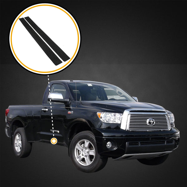 Red Hound Auto Custom Fit 2007-2013 Compatible with Toyota Tundra Regular Cab 2pc Kit Door Entry Guards Scratch Protection Paint Protection Sill Scuff Threshold Shield