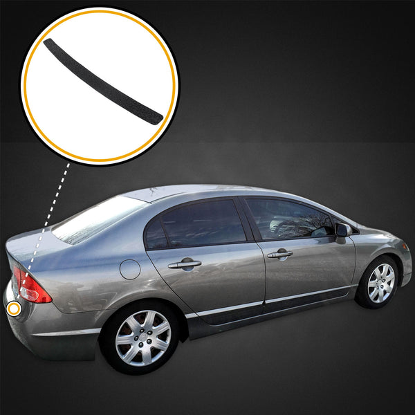 Custom Fit 2009-2011 Compatible with Honda Civic 1pc Protect Kit Rear Bumper Scuff Scratch Protector Paint Protection