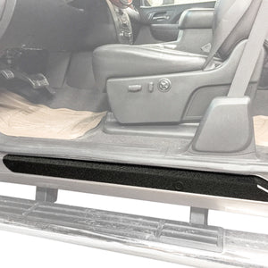 Red Hound Auto Custom Door Sill Entry Guard Kit Compatible with 2007-2013 Chevy GMC Silverado Sierra 1500, 08-14 2500 3500 Extended Cab Only - 6pc Kit