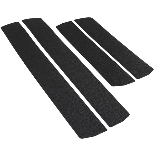 Red Hound Auto Door Sill Entry Guards Scratch Shield Compatible with 2007-2013 Chevy GMC Silverado Sierra 1500 Crew Cab & 08-14 2500 HD 3500 HD 4pc Protector Paint Protection Guard