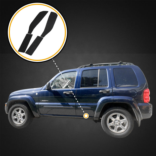 Red Hound Auto Door Entry Guards Scratch Shield 2002-2007 Compatible with Jeep Liberty 4pc Rear Doors Only Sill Kit Protector Set Paint Protection Guard