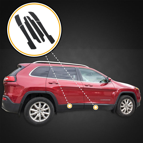Red Hound Auto Door Entry Guards Scratch Shield 2014-2019 Compatible with Jeep Cherokee 6pc Kit Protector Cover Paint Protection Threshold