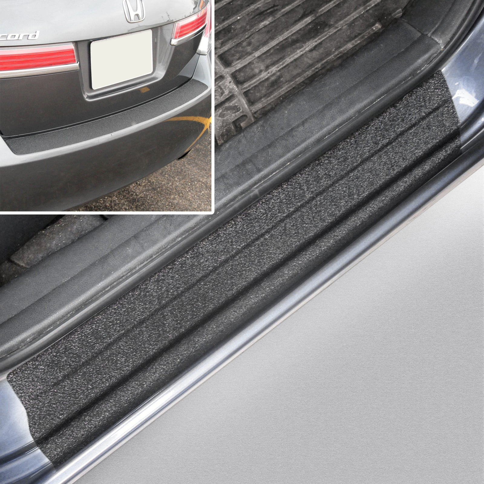 Red Hound Auto 2008-2012 Compatible with Honda Accord Sedan 5pc 4 Door Sill Step Protector Bumper Threshold Shield Scratch Paint Protection Guard