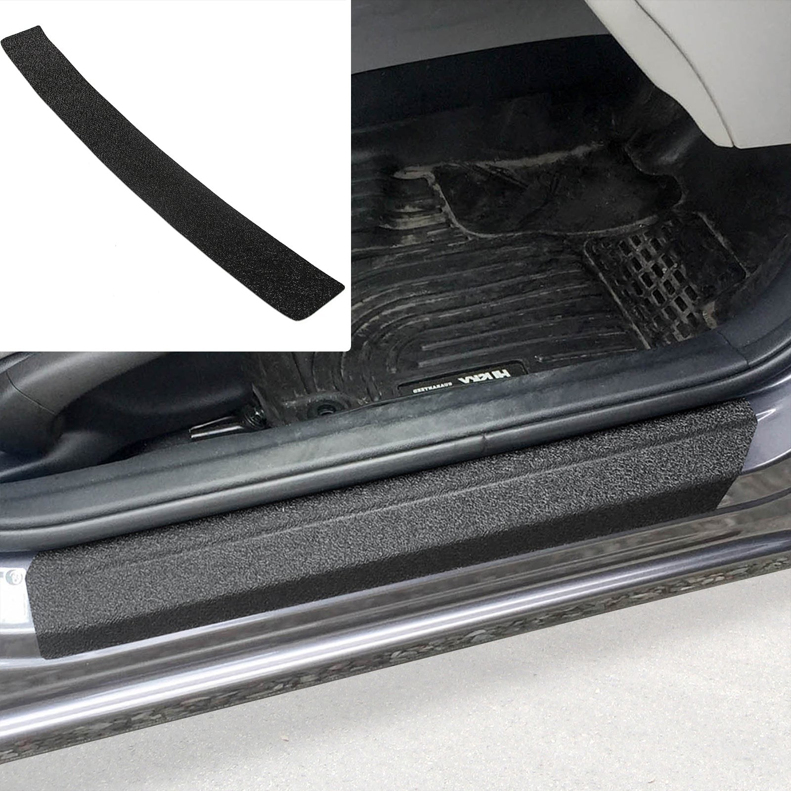 Red Hound Auto 2013-2015 Compatible with Honda Civic 7pc Door Sill Step Protector Bumper Threshold Shield Pads Paint Protection Guard
