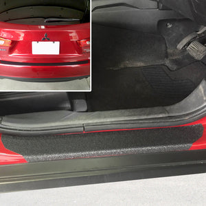 Red Hound Auto 2011-2015 Compatible with Mitsubishi Outlander Sport ASX 7pc Door Sill Step Protector Bumper Shield Paint Protection Guard