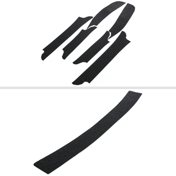 Red Hound Auto Door Entry Guards & Front Bumper Scratch Shield 2007-2016 Compatible with Jeep Compass 7pc Kit Bra Paint Protector