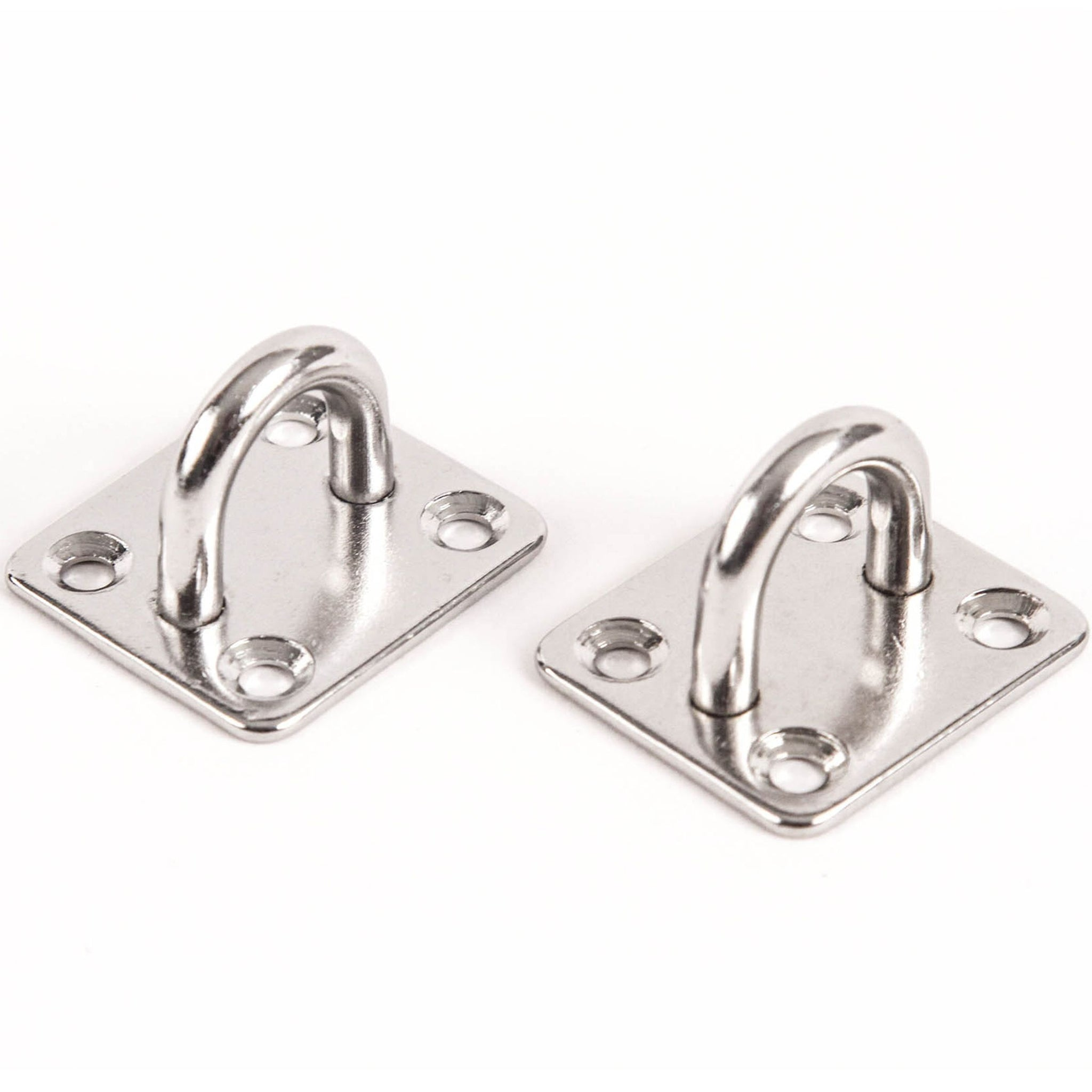 Red Hound Auto 2 Stainless Steel 316 6mm Square Eye Plates 1/4 Inches Marine SS Pad Boat Rigging