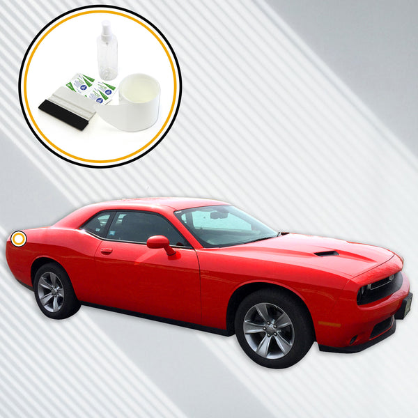 Red Hound Auto Rear Bumper Paint Protection Film Compatible with 2015-2019 Dodge Challenger 1pc Custom Guard Clear Applique Cover Premium Self Healing