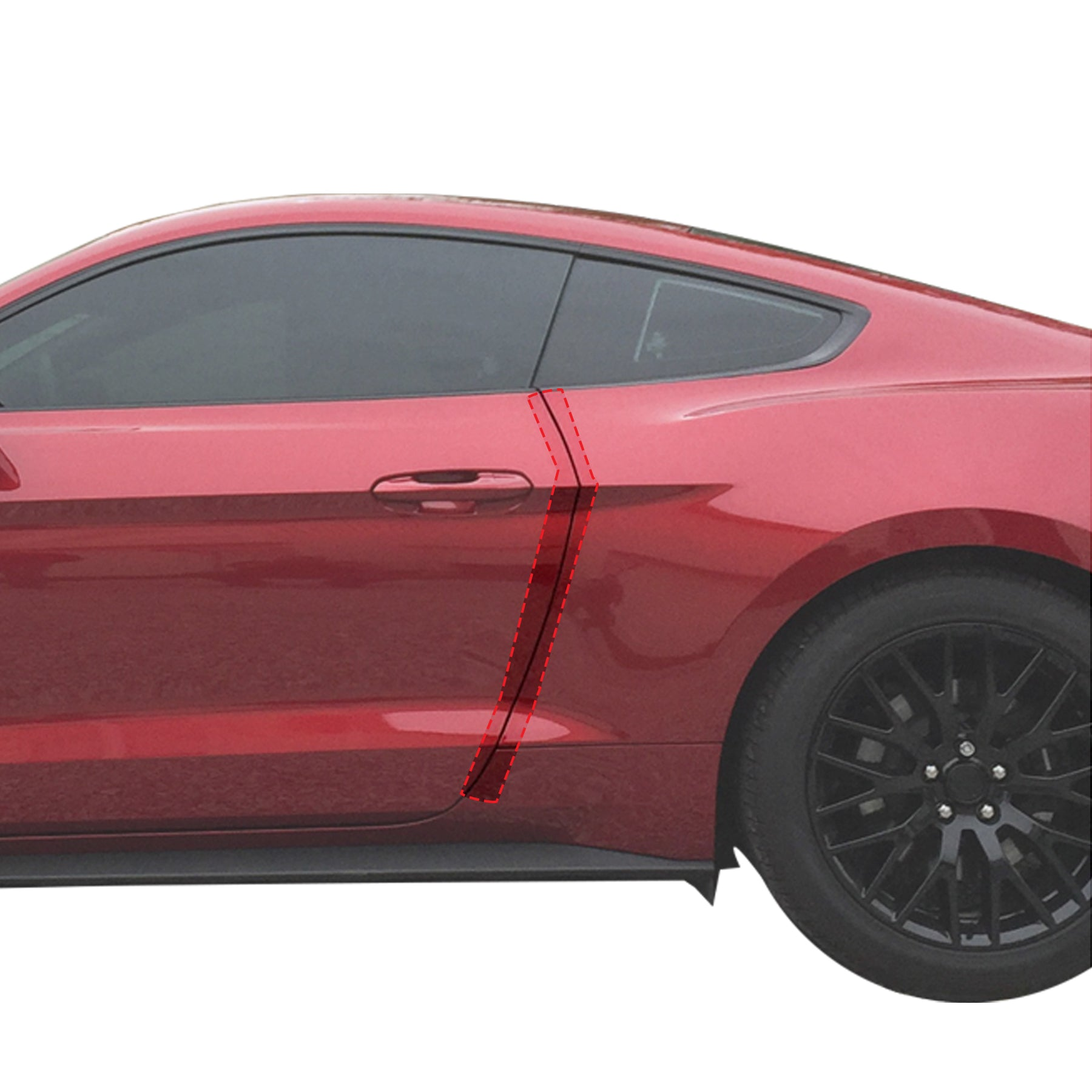 Red Hound Auto Door Edge Lip Guards 2015-2018 Compatible with Ford Mustang 2pc Clear Paint Protector Film Not Universal Pre-Cut Custom Fit