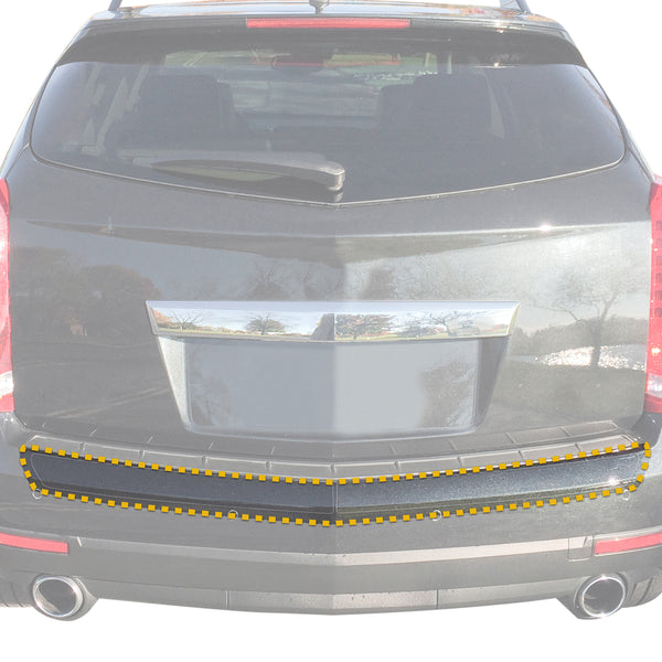 Red Hound Auto Rear Bumper Paint Protection Film 2010-2016 Compatible with Cadillac SRX 2pc Custom Guard Clear Applique Cover Self Healing Invisible Cover Wet Install