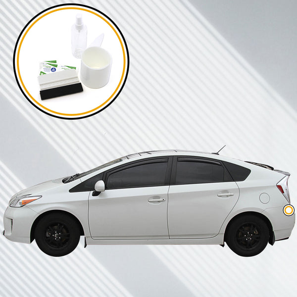 Red Hound Auto Rear Bumper Paint Protection Film 2010-2015 Compatible with Toyota Prius and 2012-2015 Plug in Hybrid Hatchback 1pc Guard Clear Applique Cover Self Healing Invisible Cover Wet Install