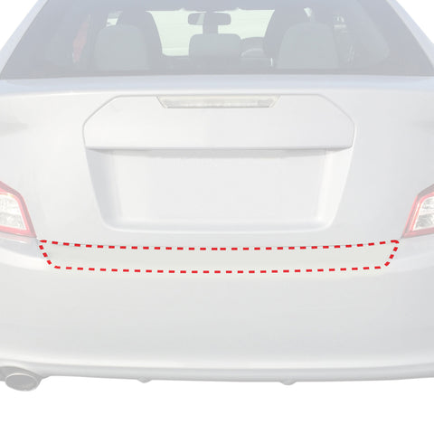 Rear Bumper Paint Protector 2011-2013 Compatible with Toyota Scion tC Custom Fit Clear Film Scuff Scratch Guard 1pc Applique Cover Deluxe Kit Premium Self Healing Invisible Cover Wet Install
