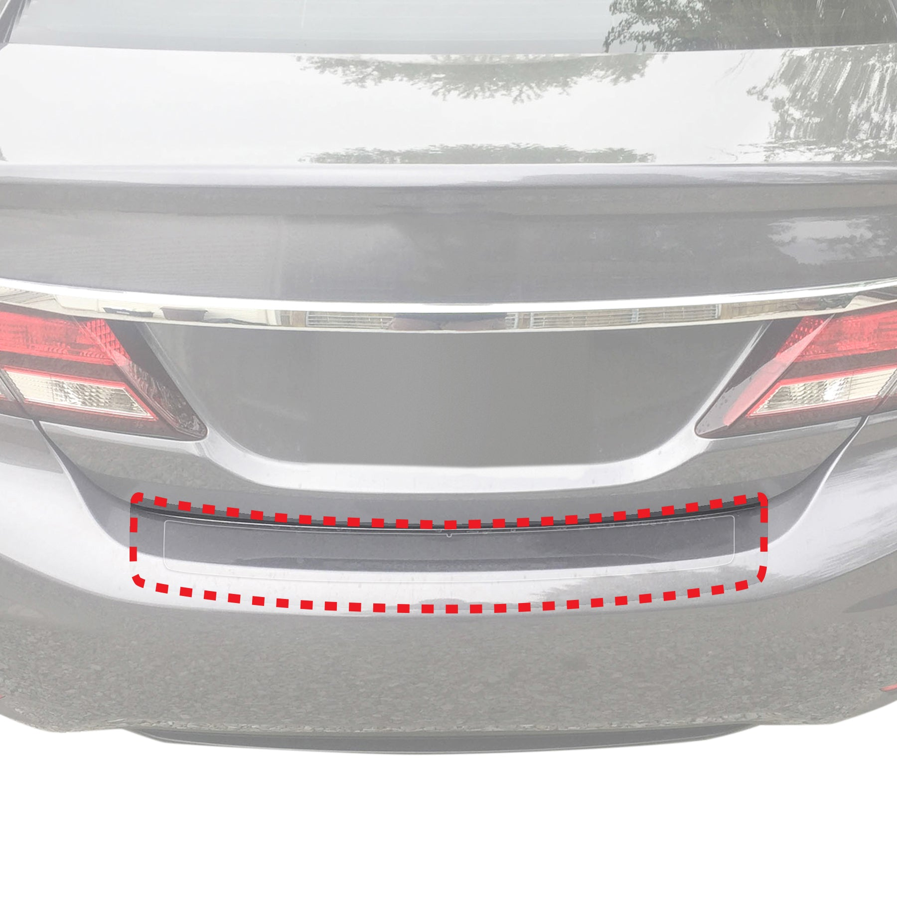 Red Hound Auto Rear Bumper Paint Protection Film 2013-2015 Compatible with Honda Civic Sedan 4dr 1pc PPF Custom Guard Clear Applique Cover Self Healing Invisible Cover Wet Install