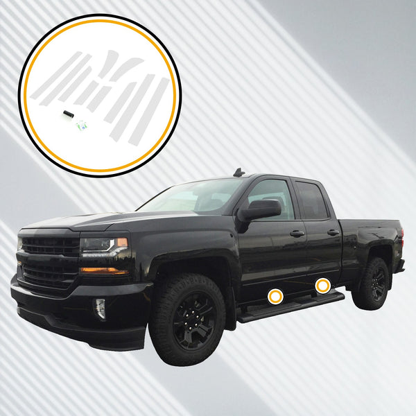 Red Hound Auto Door Sill Paint Protection Film Compatible with Chevrolet Chevy GMC Silverado Sierra 1500 2500 3500 2014 2015 2016 2017 2018 Double Cab 10pc PPF Custom Clear Protector Invisible Cover
