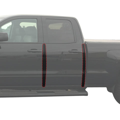 Custom Fit 2015-2017 Compatible with Colorado Canyon Crew Cab 6pc Kit Door Entry Guards Scratch Shield Paint Protection Guard