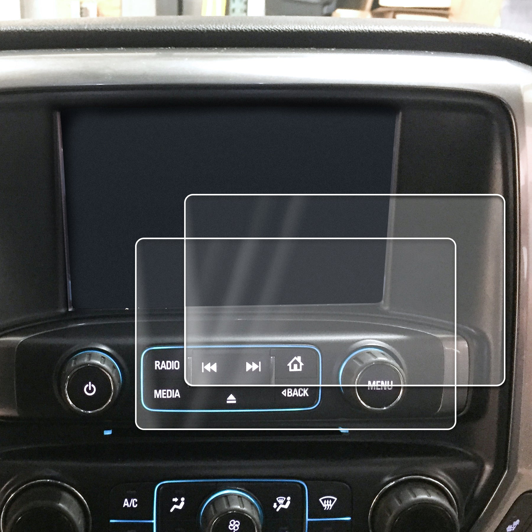 Compatible with 2014-2018 1500 GMC Sierra Intellink Chevy Silverado MyLink Screen Savers 2pc Custom Fit Invisible High Clarity Touch Display Protector Minimizes Fingerprinting 8 Inch
