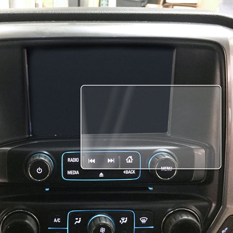2014-2018 Compatible with Chevy GMC Silverado Sierra 1500 MyLink Intellink Screen Saver 1pc Custom Fit Invisible High Clarity Touch Display Protector Minimizes Fingerprinting 8 Inch