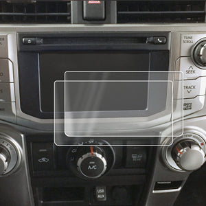 Red Hound Auto 2014-2018 Compatible with Toyota 4Runner Entune Scout GPS Link Screen Saver 2pc Custom Fit Invisible High Clarity Touch Display Protector Minimizes Prints 8 Inch
